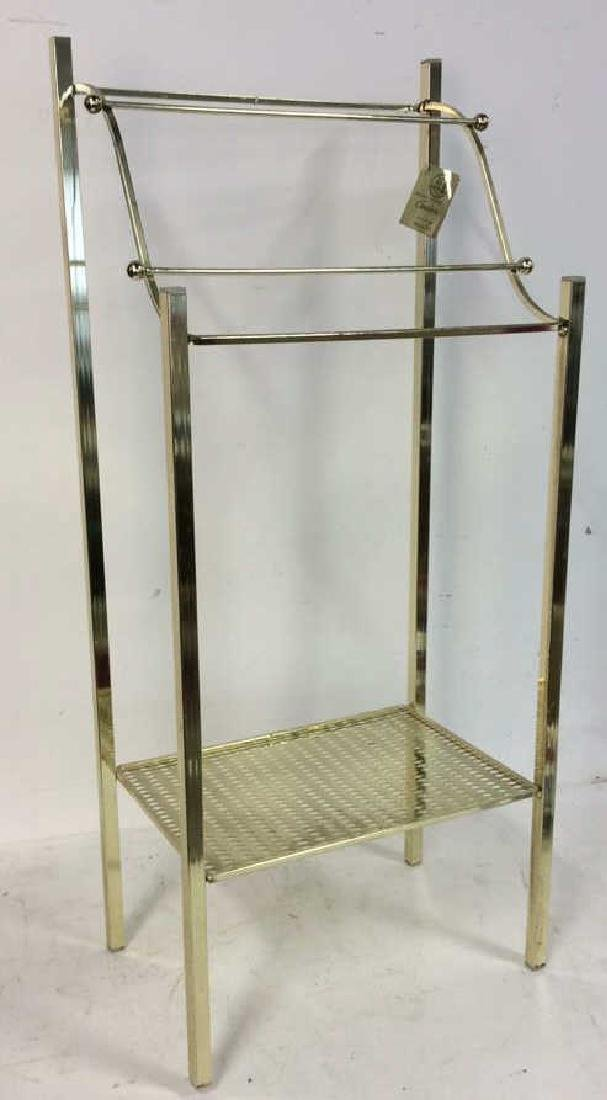Brass Towel Rack with Shelf Standing Towel Rack with