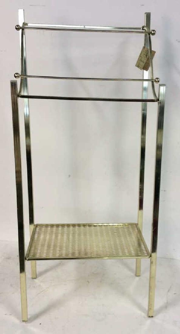 Brass Towel Rack with Shelf Standing Towel Rack with - 2