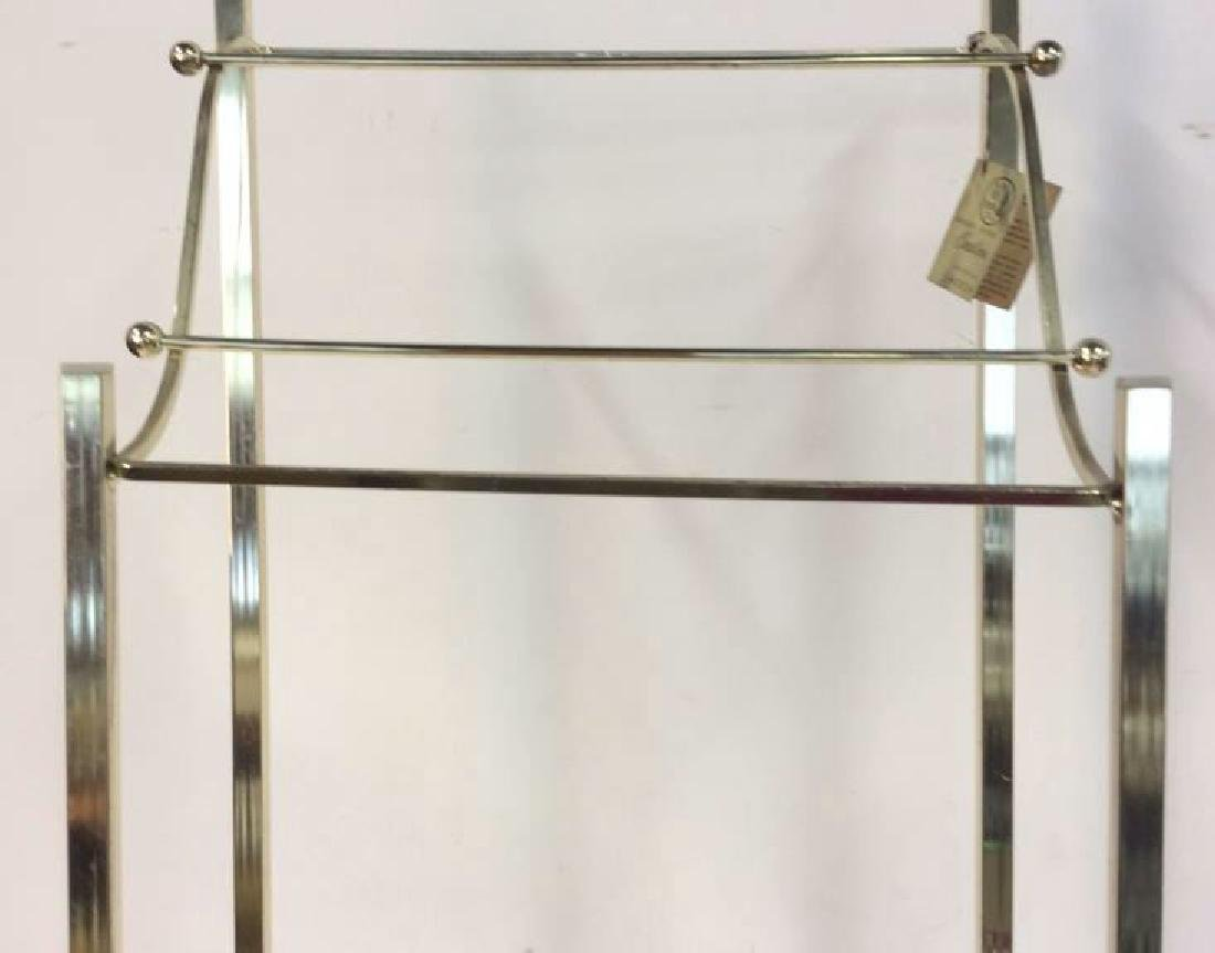 Brass Towel Rack with Shelf Standing Towel Rack with - 3