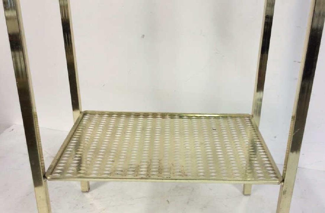 Brass Towel Rack with Shelf Standing Towel Rack with - 4