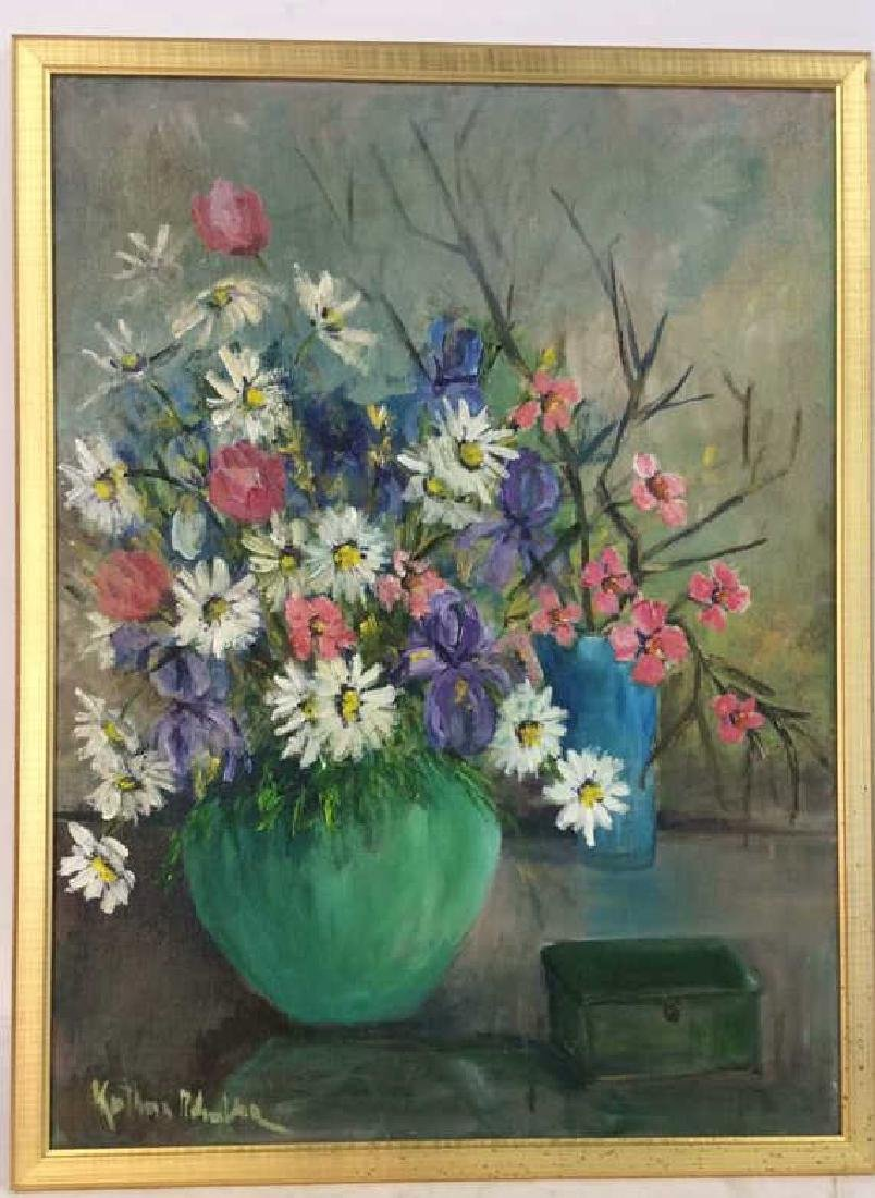 Signed Painterly Still Life on Canvas Floral