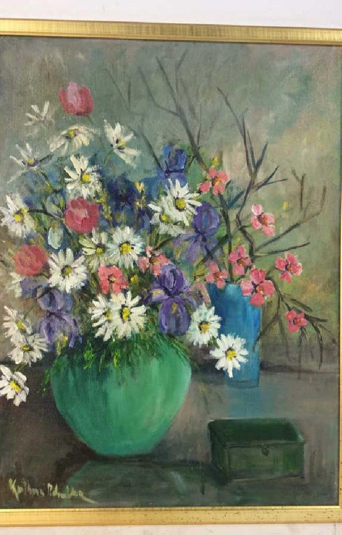 Signed Painterly Still Life on Canvas Floral - 2