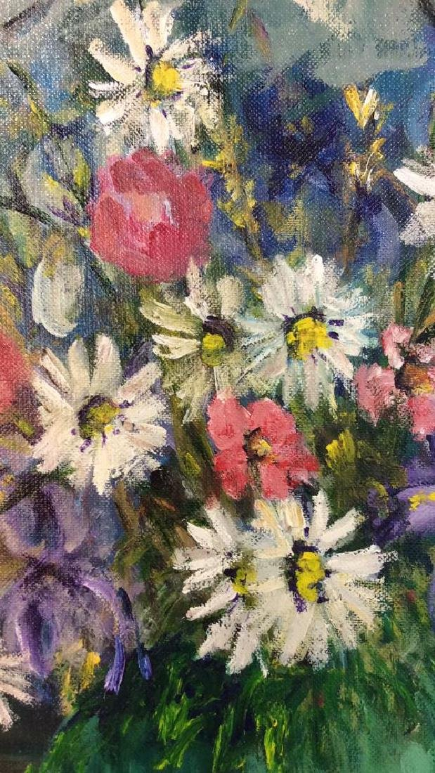 Signed Painterly Still Life on Canvas Floral - 4