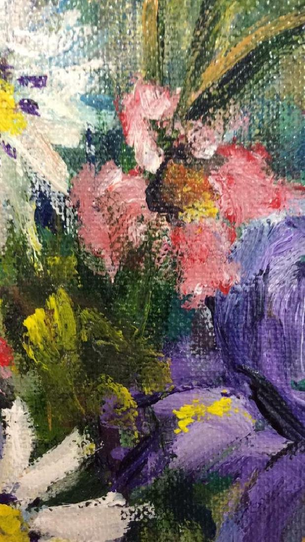 Signed Painterly Still Life on Canvas Floral - 5