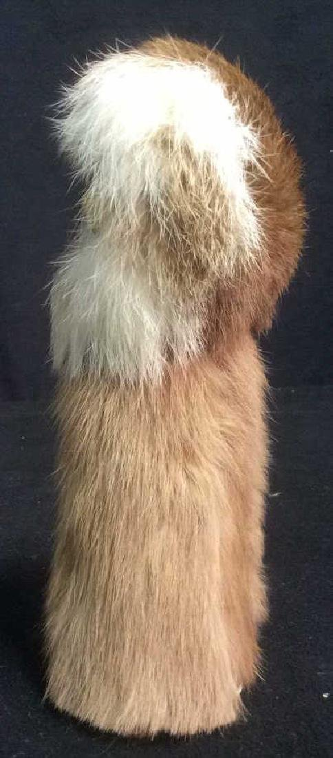 Group Assorted Wood Fur Leather Figurines Group Lot of - 3