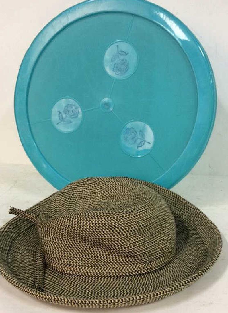 Vintage Brimmed Hat with Box Vintage woven brimmed hat