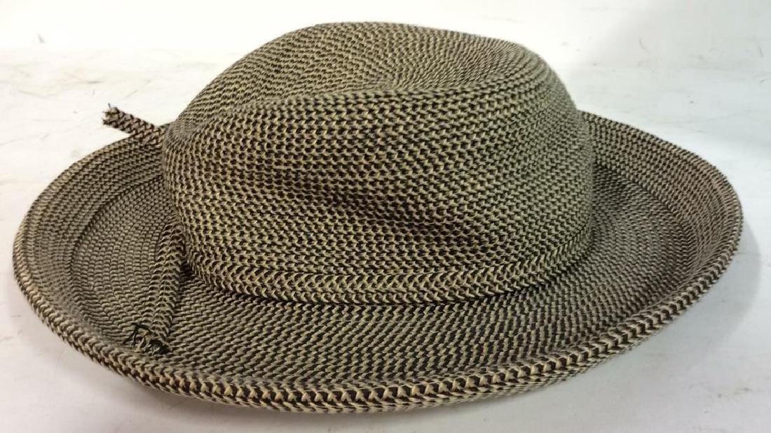 Vintage Brimmed Hat with Box Vintage woven brimmed hat - 2