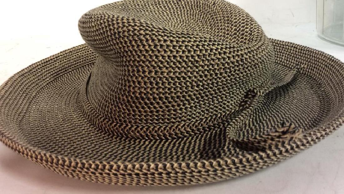 Vintage Brimmed Hat with Box Vintage woven brimmed hat - 4