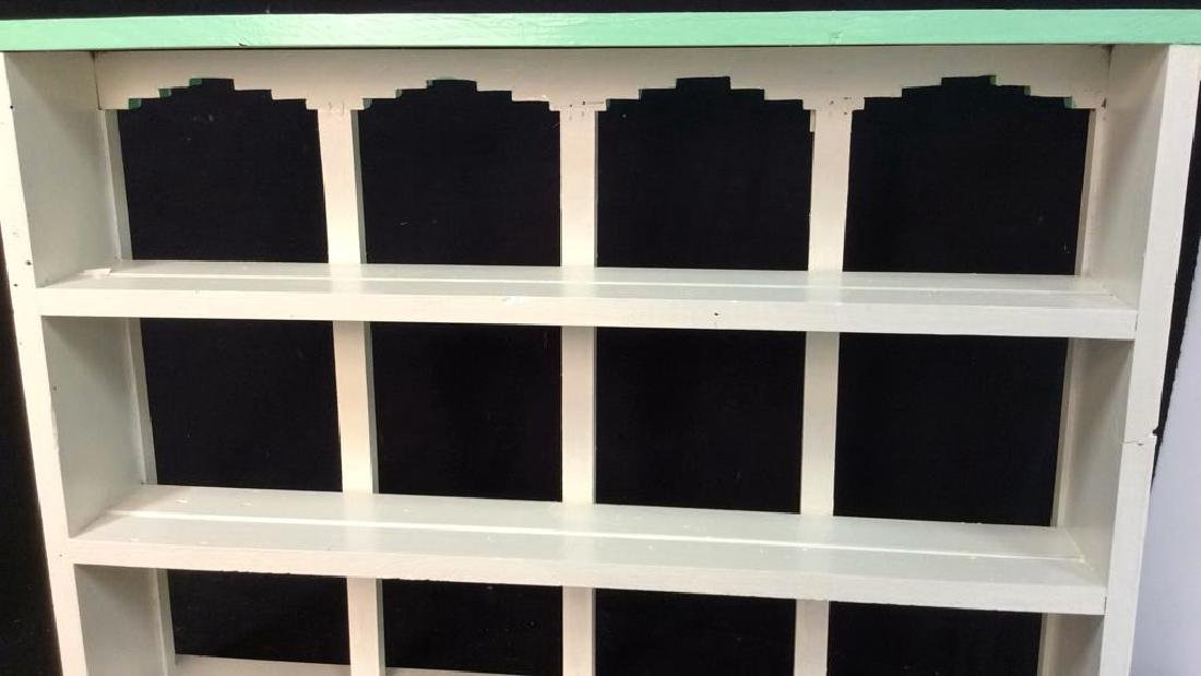 Painted Green White Hanging Display Shelf Decorative - 6