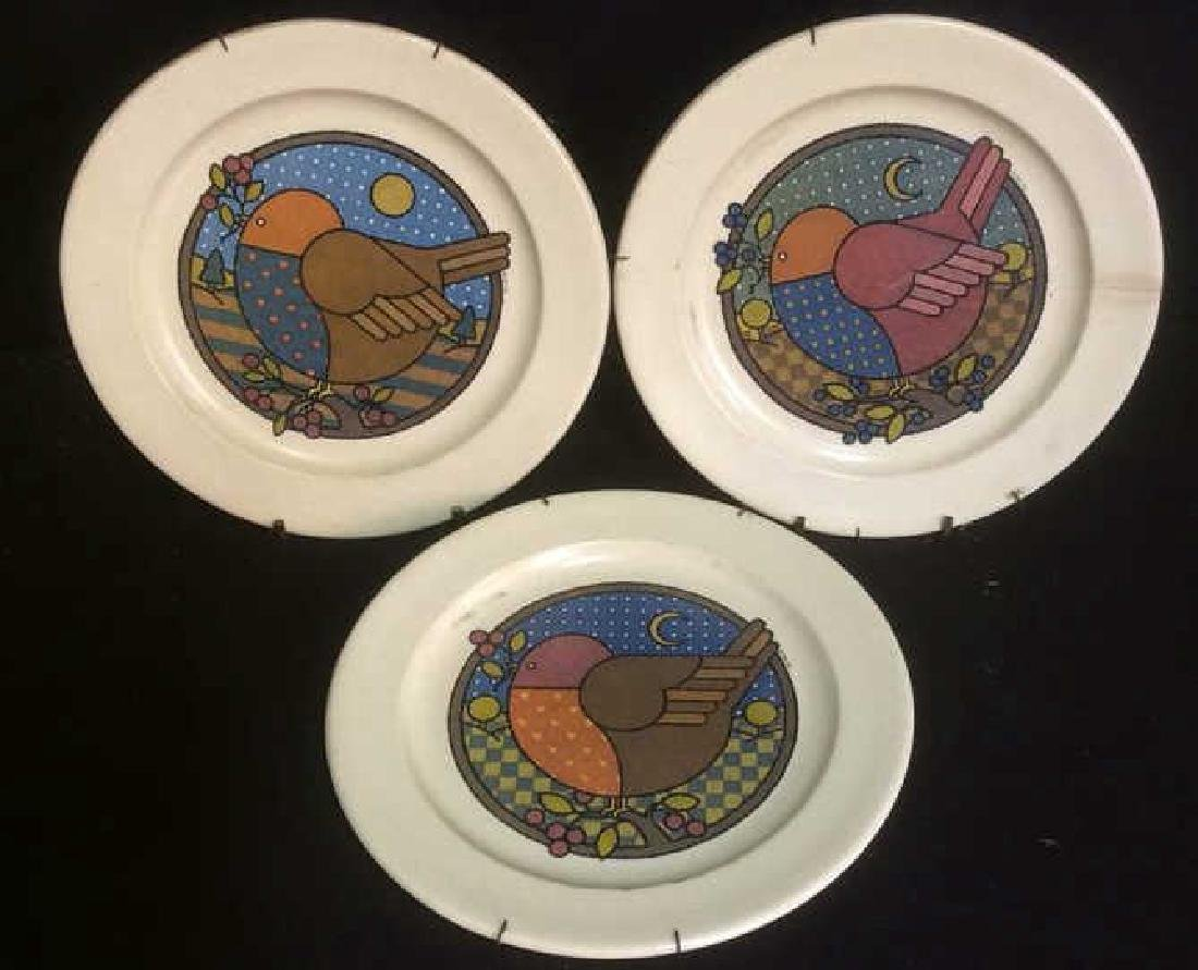 Group 3 Vintage Bird Motif Plates Group Lot of 3