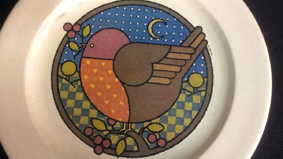 Group 3 Vintage Bird Motif Plates Group Lot of 3 - 3