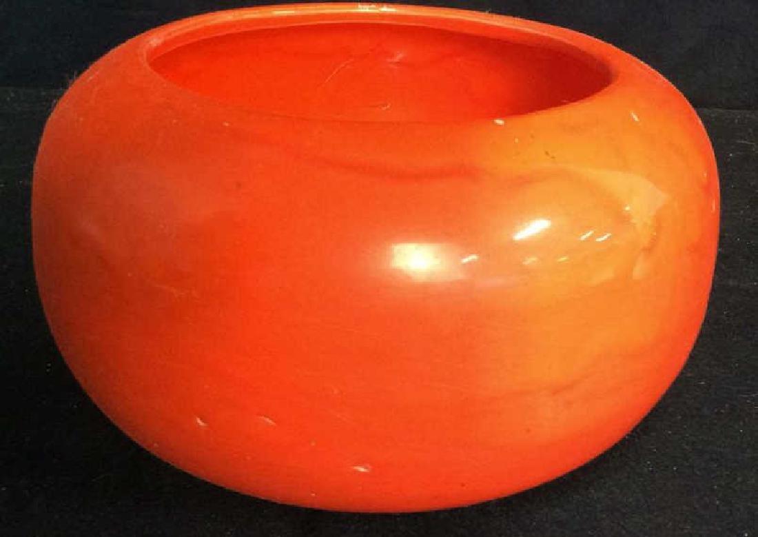 Vintage Orange Pottery Bowl Hand made Pottery bowl