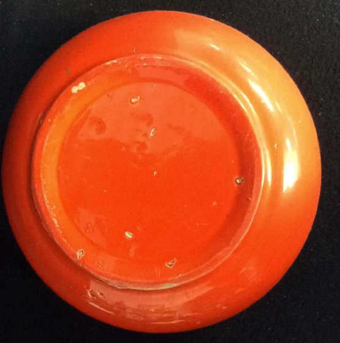Vintage Orange Pottery Bowl Hand made Pottery bowl - 6