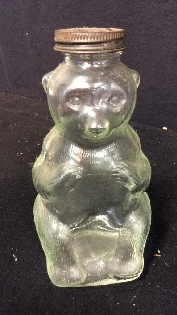 Vintage Collectible Kitchen aglassware Bear jar with - 6
