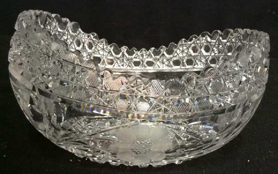 Vintage Cut Brilliant Crystal Bowl Heavily cut Rest all