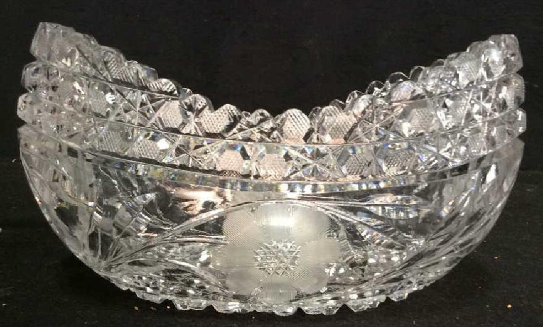 Vintage Cut Brilliant Crystal Bowl Heavily cut Rest all - 2