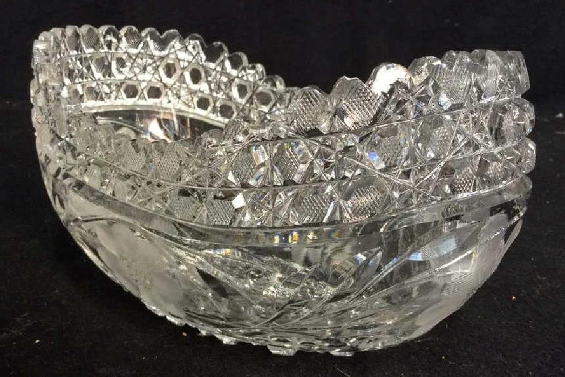 Vintage Cut Brilliant Crystal Bowl Heavily cut Rest all - 5