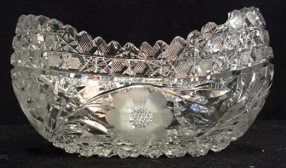 Vintage Cut Brilliant Crystal Bowl Heavily cut Rest all - 6
