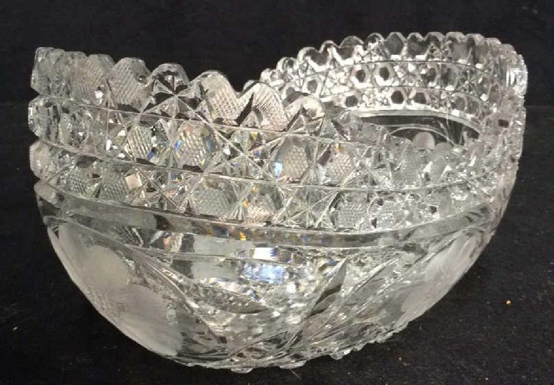 Vintage Cut Brilliant Crystal Bowl Heavily cut Rest all - 7