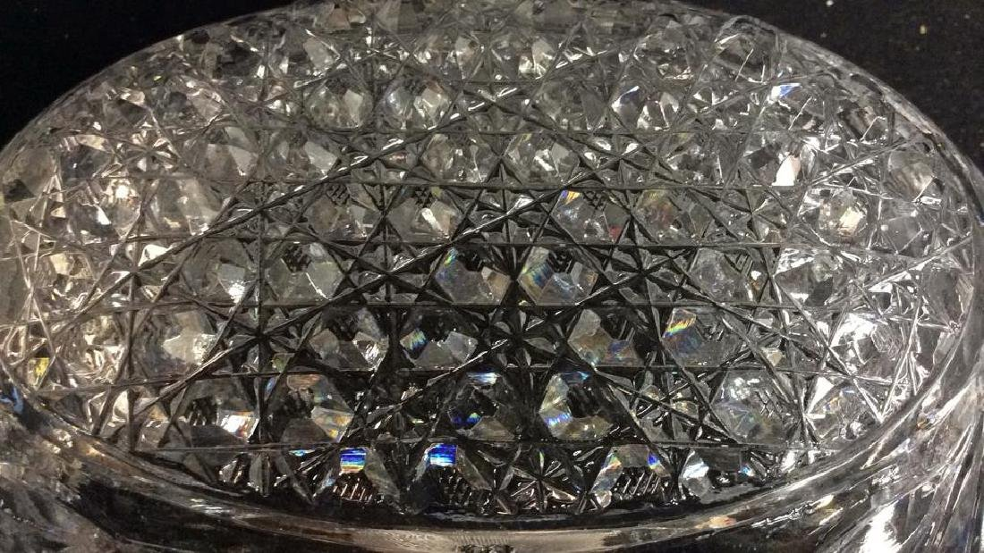 Vintage Cut Brilliant Crystal Bowl Heavily cut Rest all - 9