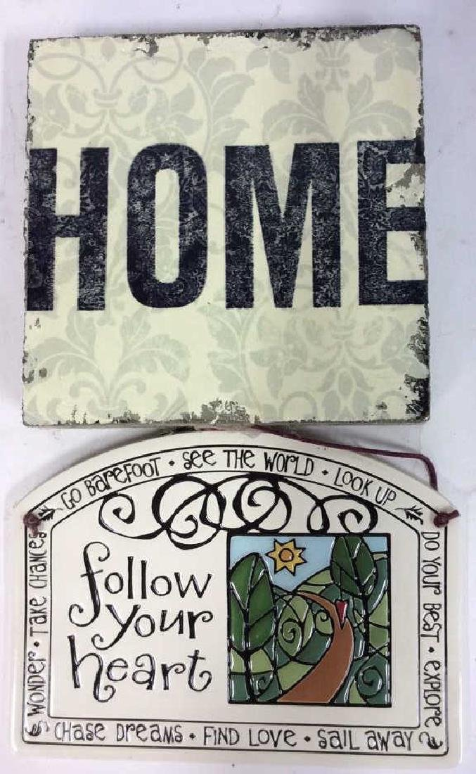 Assorted Vintage Enamelware wood signs, Angeks Assorted - 3