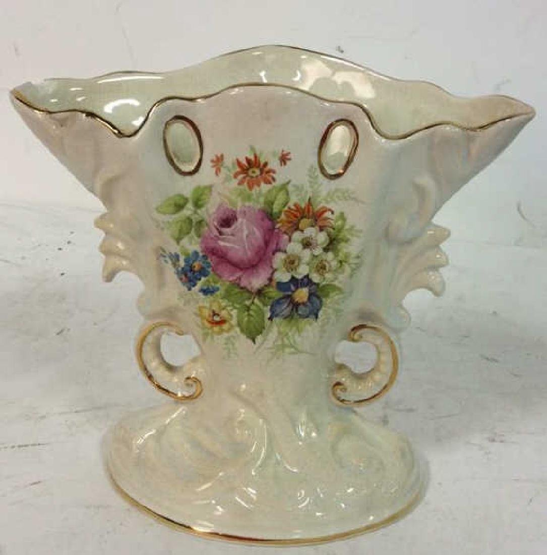 Pottery Porcelain Collectible Group Fan shaped Vase - 3