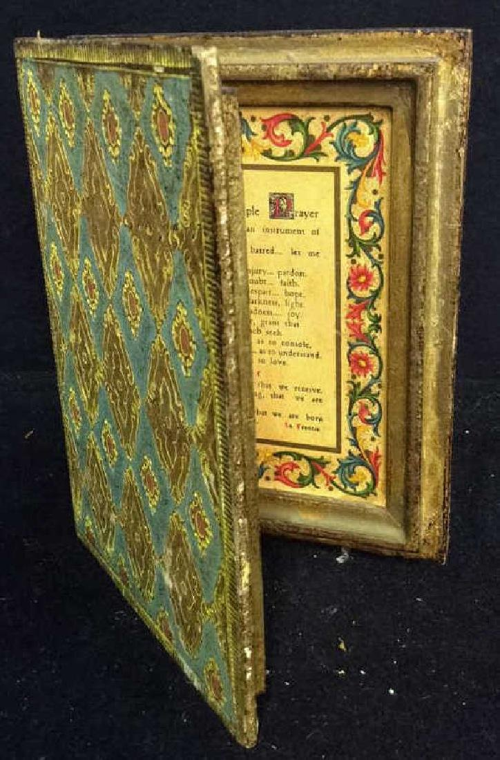 Florence Italy Papered Religous Box Book form trinket