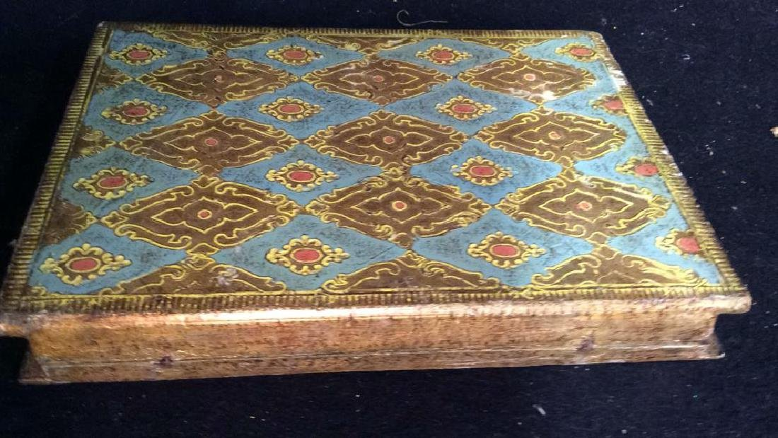 Florence Italy Papered Religous Box Book form trinket - 8