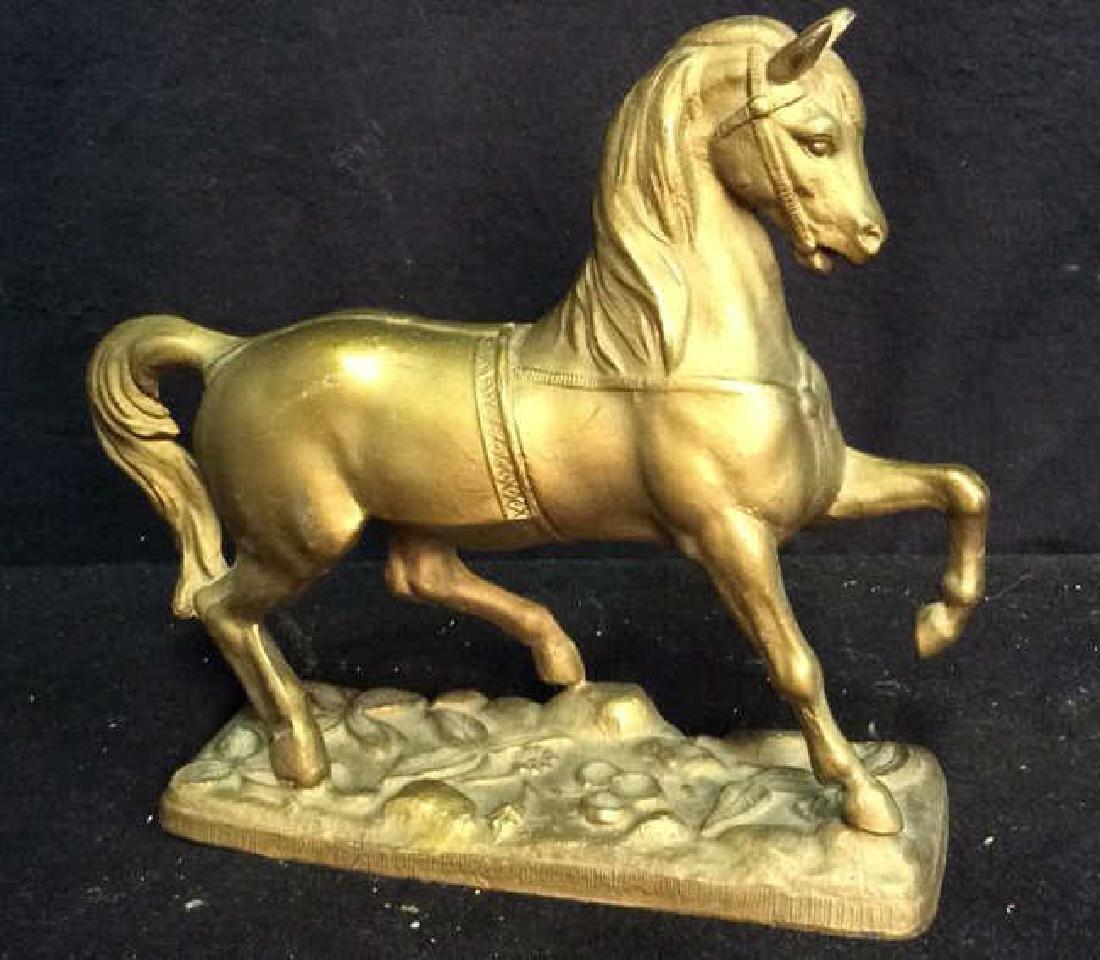 Brass a horse Form Sculpture Brass horse firm sculpture