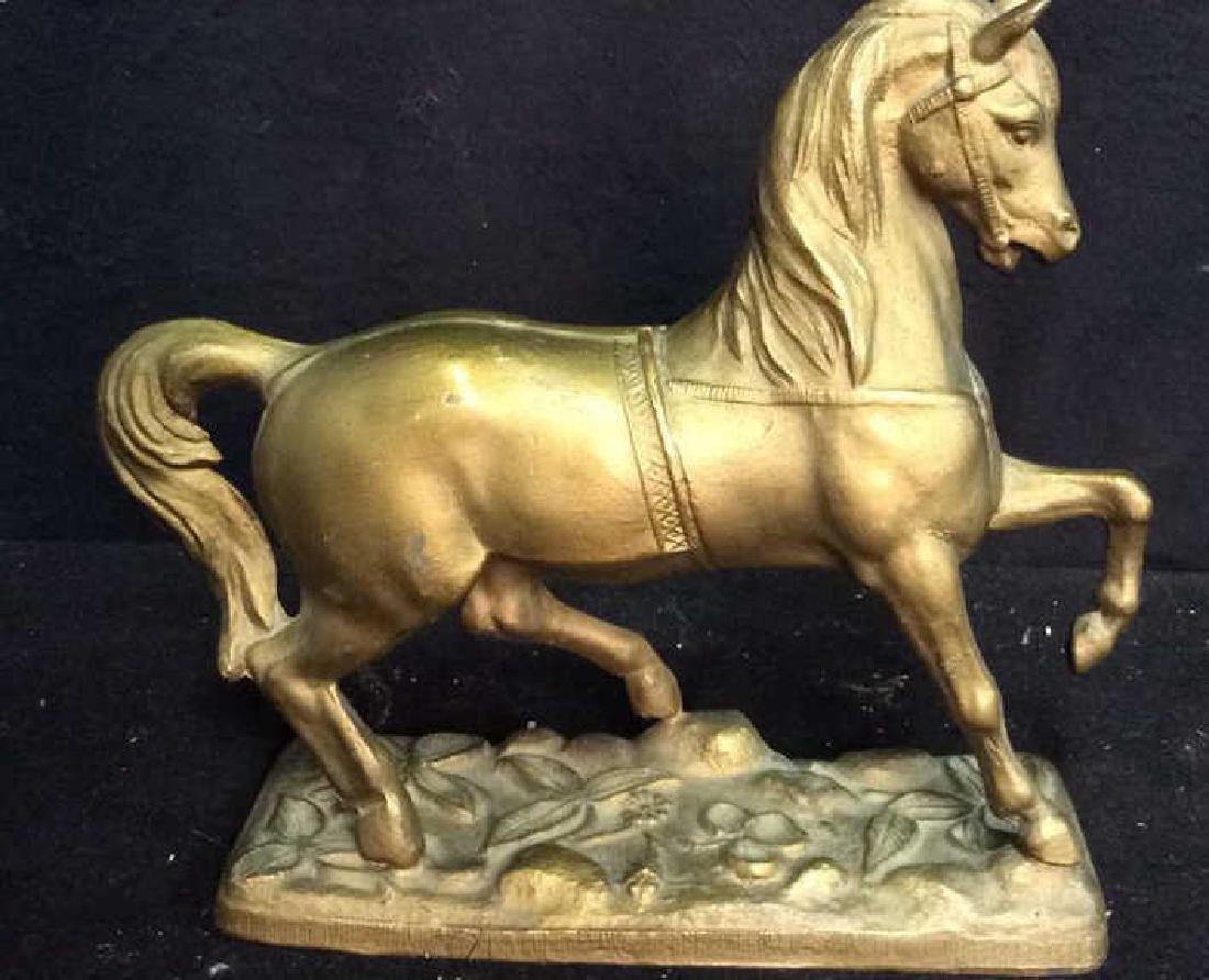 Brass a horse Form Sculpture Brass horse firm sculpture - 2