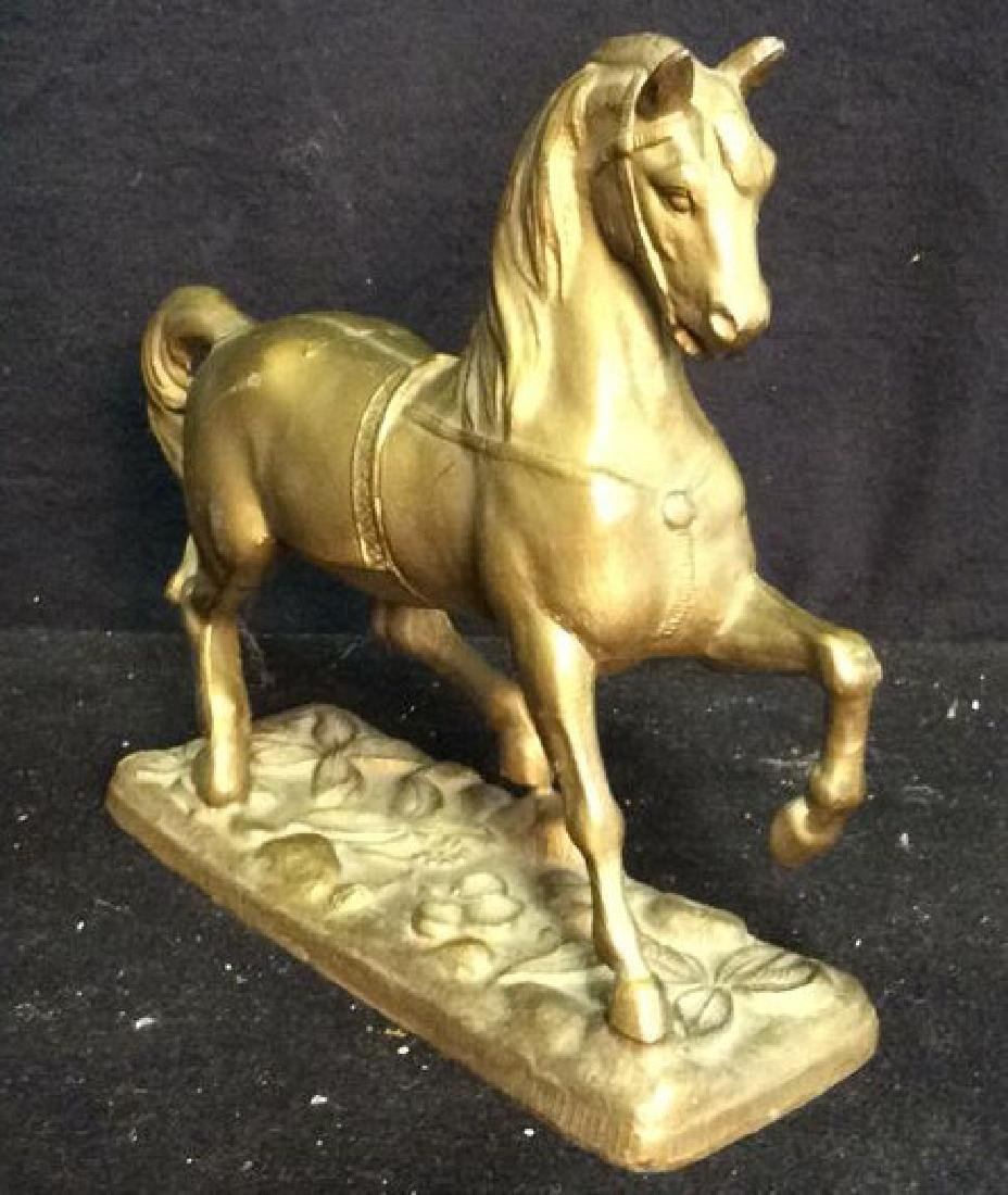 Brass a horse Form Sculpture Brass horse firm sculpture - 3