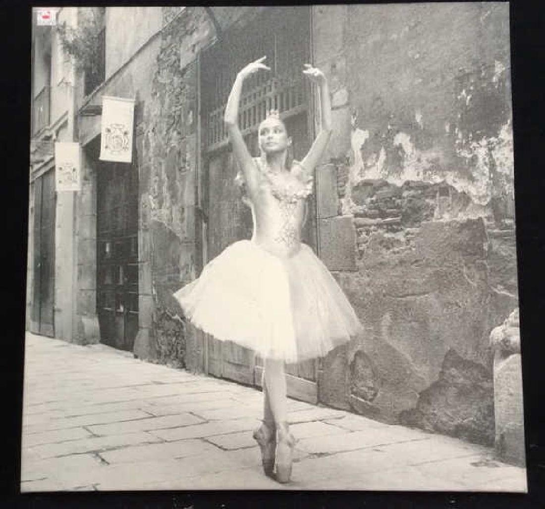 Ballet Photograph Print on Canvas Black and white