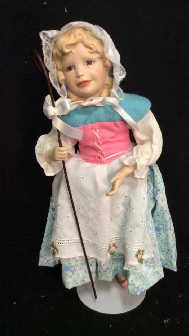 Edwin Knowles Porcelain Bi Peep Doll with Box - 3