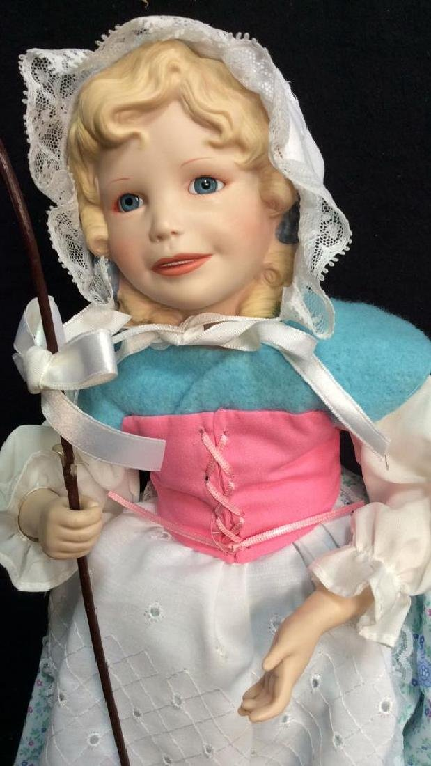 Edwin Knowles Porcelain Bi Peep Doll with Box - 4