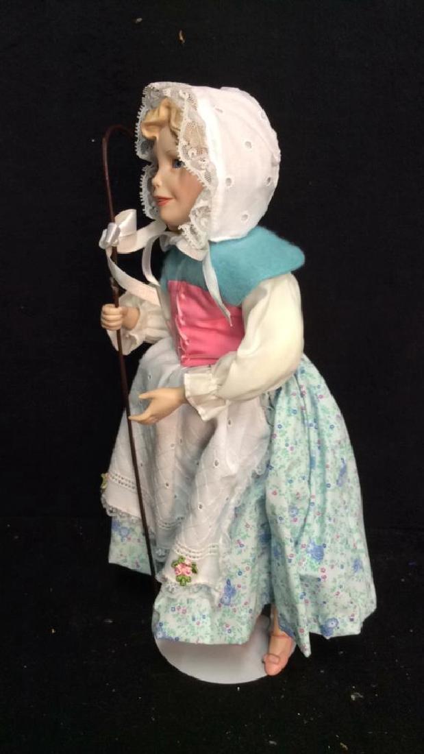 Edwin Knowles Porcelain Bi Peep Doll with Box - 5