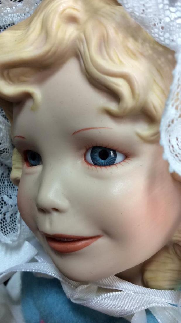 Edwin Knowles Porcelain Bi Peep Doll with Box - 9