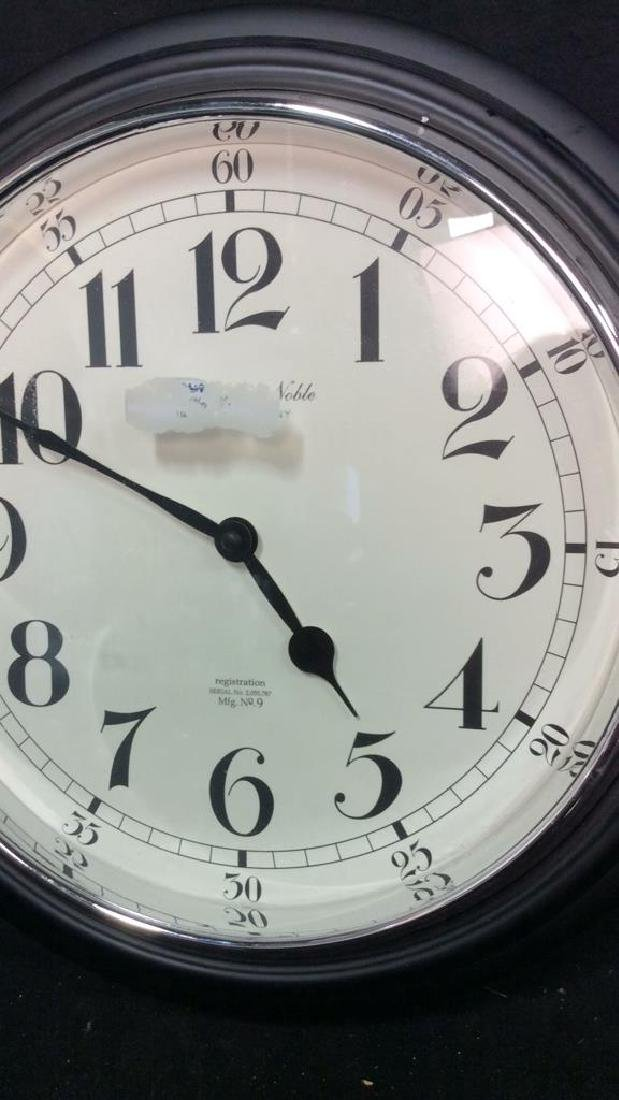 Sterling and Noble Wall Clock Measures diameter 16 - 2