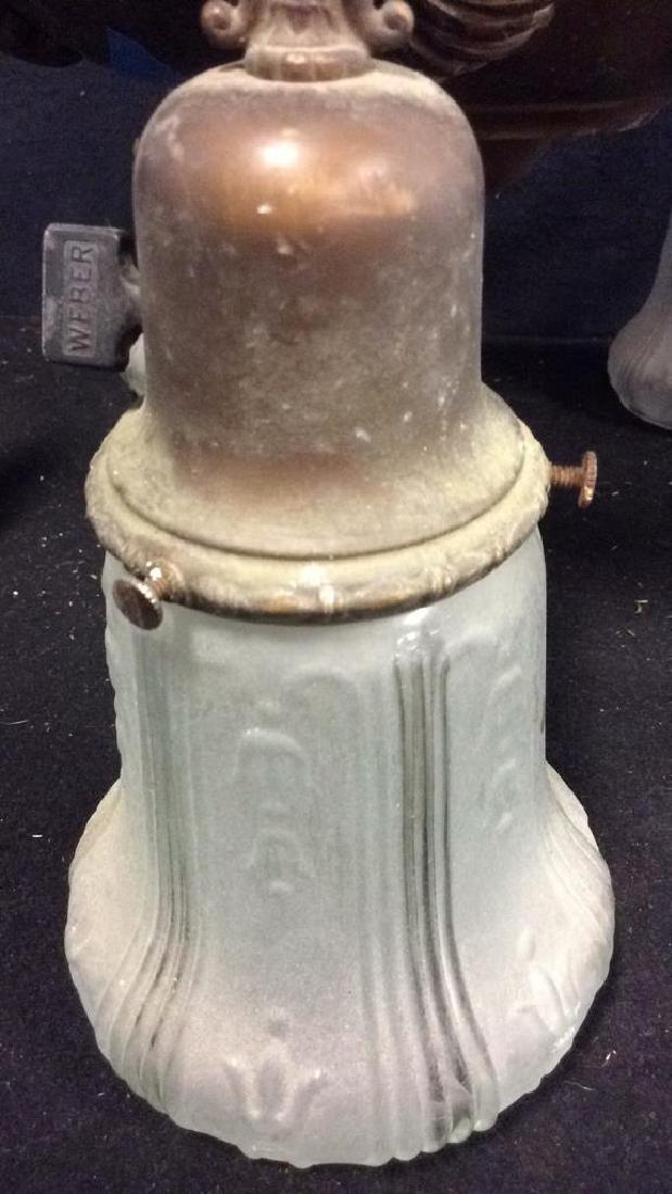 Antique 5 Arm Copper Light Fixture Antique five - 8