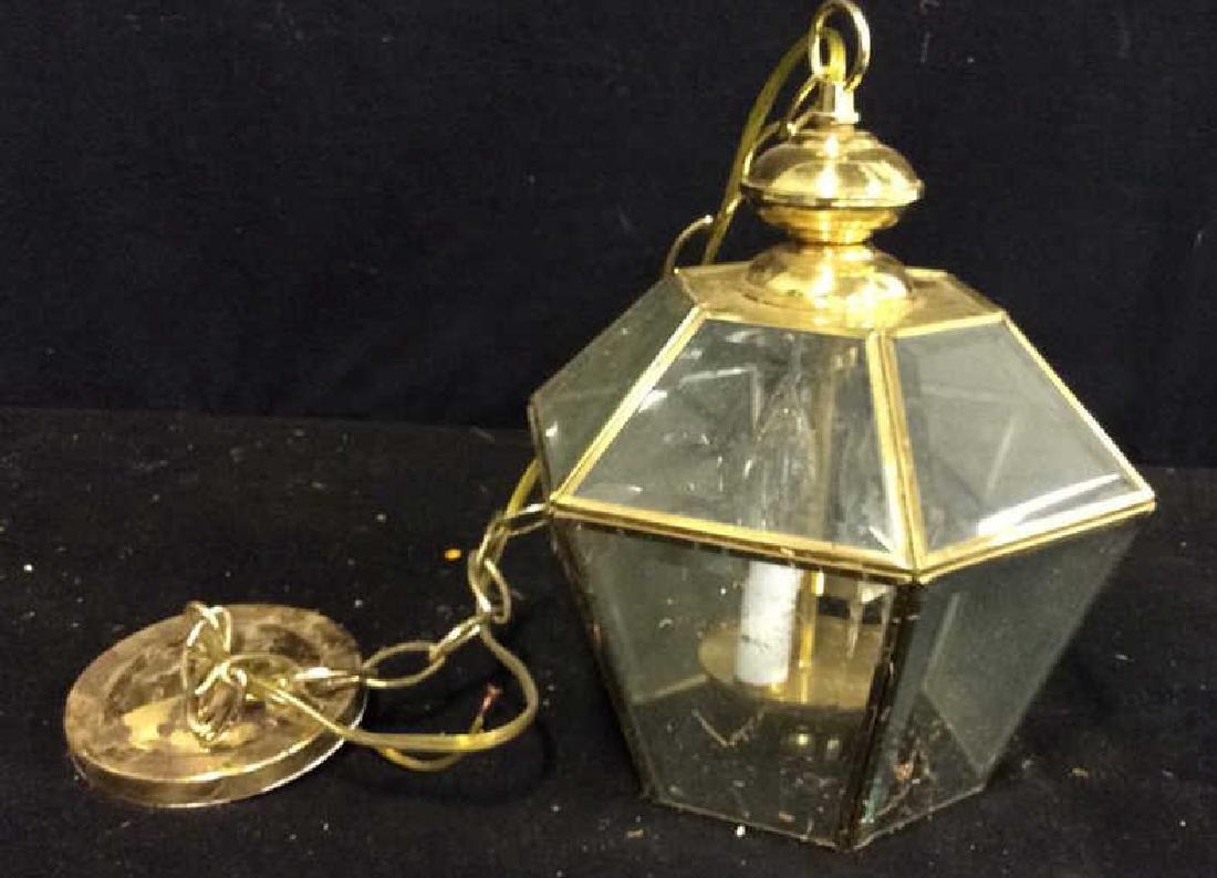Brass Glass Facetted Outdoor Lantern Light