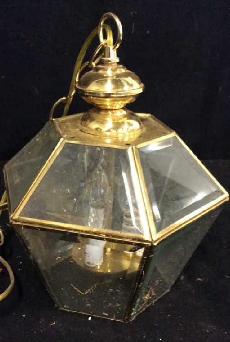 Brass Glass Facetted Outdoor Lantern Light - 2