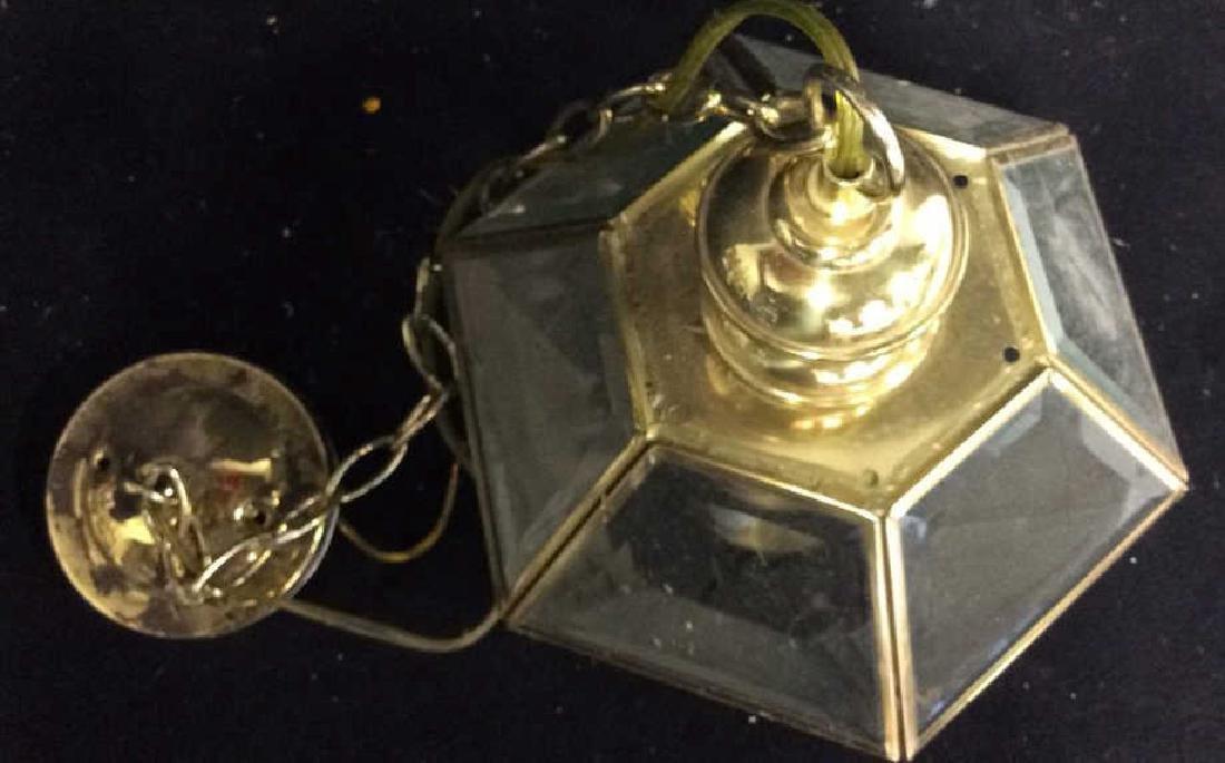 Brass Glass Facetted Outdoor Lantern Light - 3