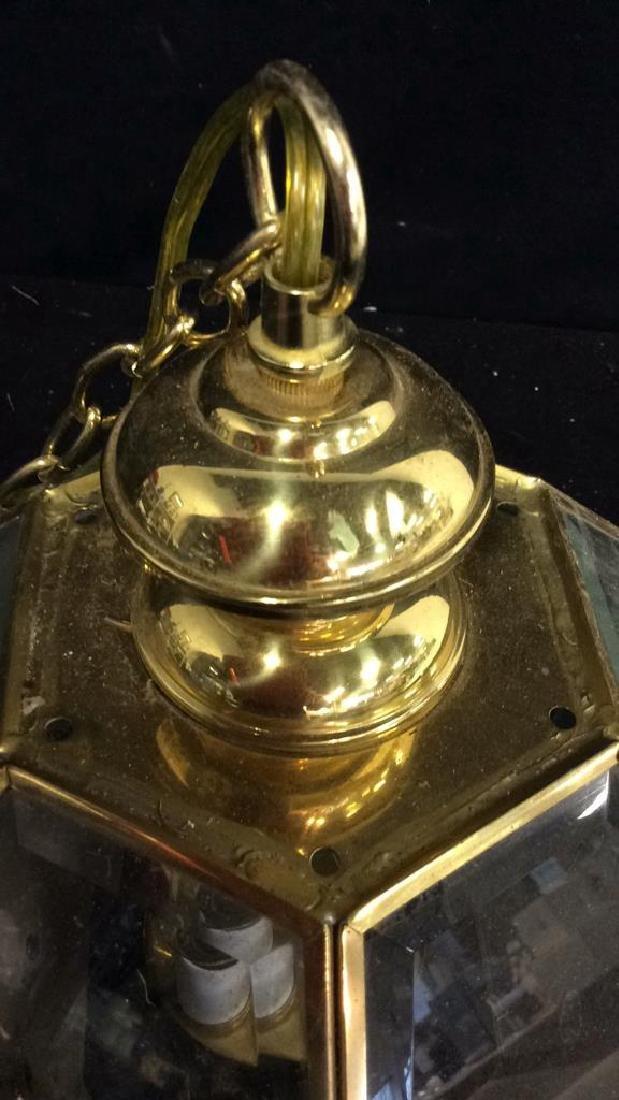 Brass Glass Facetted Outdoor Lantern Light - 4
