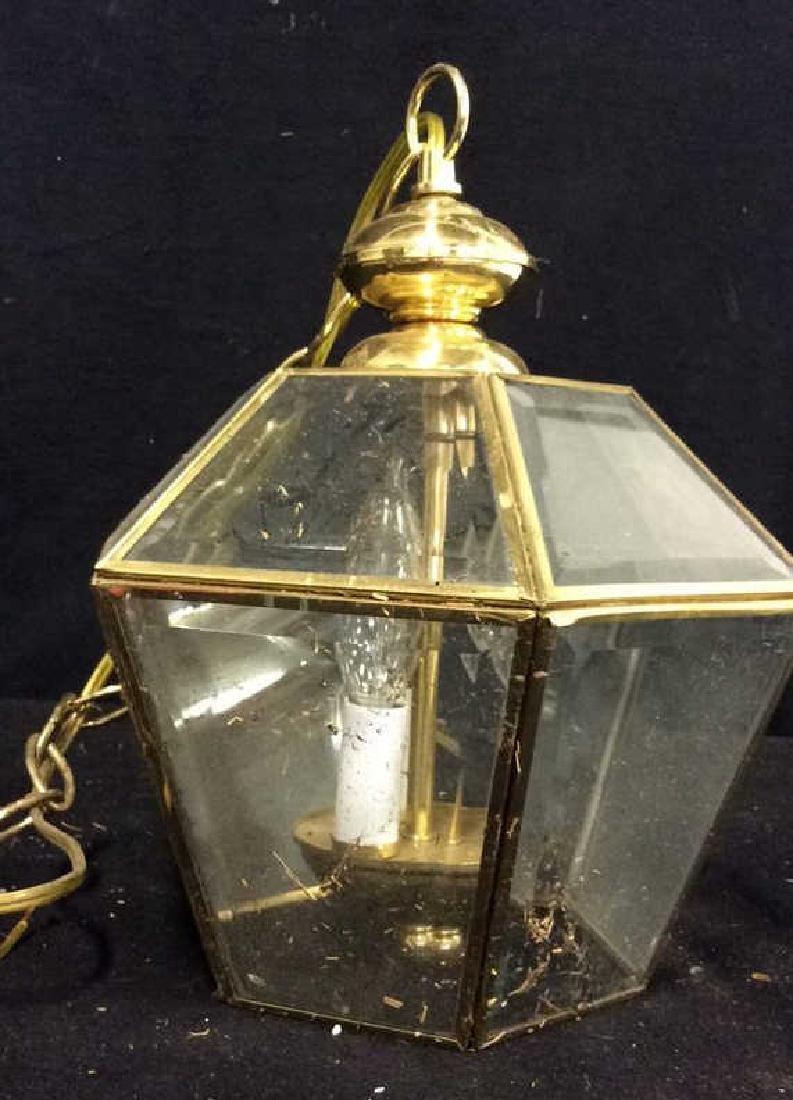 Brass Glass Facetted Outdoor Lantern Light - 6
