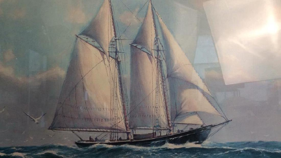 Framed and Matted Maritime Artwork Not inspected out of