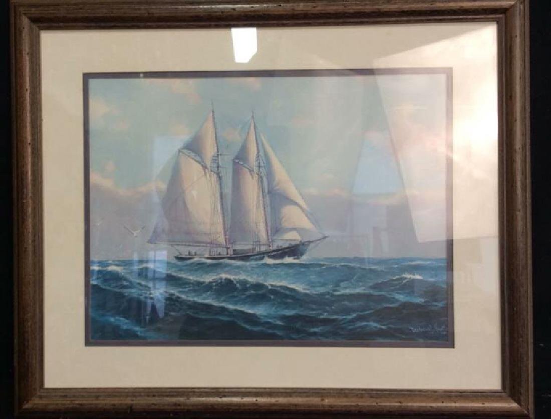 Framed and Matted Maritime Artwork Not inspected out of - 2