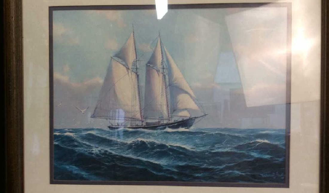 Framed and Matted Maritime Artwork Not inspected out of - 3
