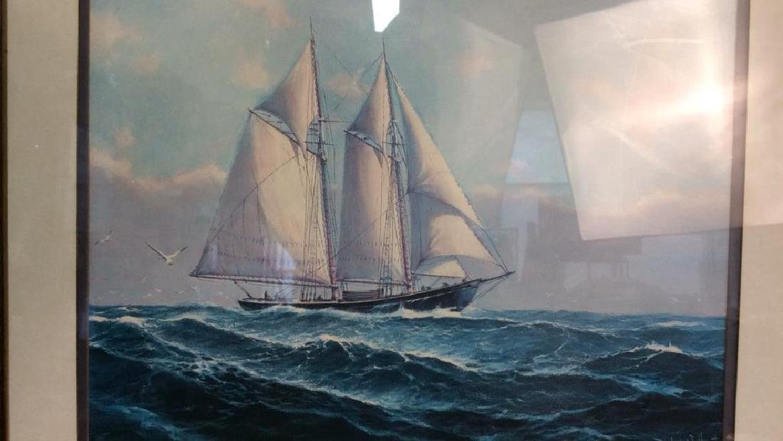 Framed and Matted Maritime Artwork Not inspected out of - 4