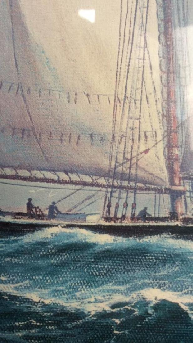 Framed and Matted Maritime Artwork Not inspected out of - 5