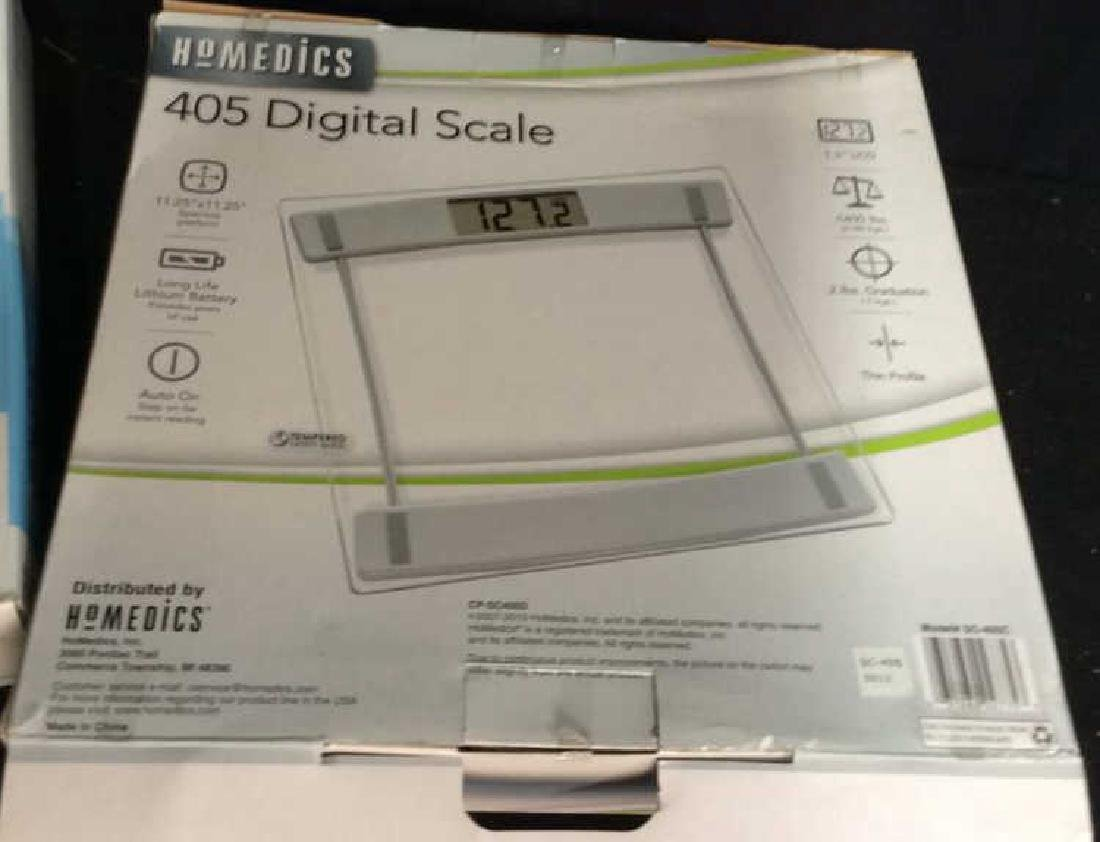 2 Digital Scales with boxes Both from Homedics, one - 3