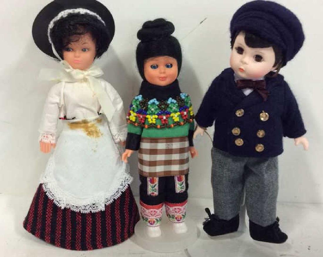 3 Collectible Costumed Dolls In period costumes of